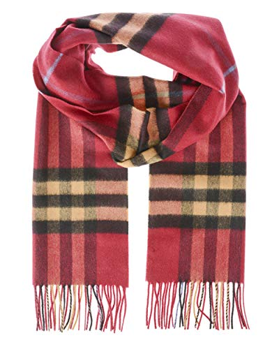 BURBERRY - SCHAL UNISEX 8007728 BORDEAUX GIANT CHECK U
