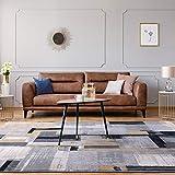 Taleta Designer Modern Abstract tappeto super morbido a pelo corto nero grigio beige 160x230cm