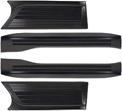 サムライプロデュース ホンダ 新型 N-BOX N-BOXカスタム JF3 JF4 専用 サイドステップ スカッフプレート フロント・リアセット 4P ブラックヘアライン