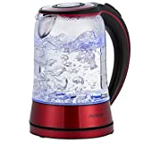 Monzana Wasserkocher Edelstahl Teekocher Glas • Glas • LED • BPA frei • 1,7 L • kabellos...