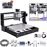DIY CNC 3018PRO 3 Axis CNC Router Kit with 7000mW 7W Module + PCB Milling, Wood Carving Engraving Machine with Offline Control Board + ER11 and 5mm Extension Rod