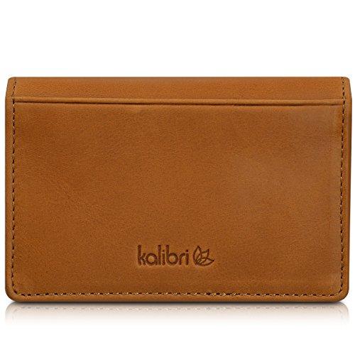 kalibri porta carte in vera pelle - portafogli astuccio documenti carte di credito tessere biglietti da visita - portafoglio raccoglitore fermasoldi