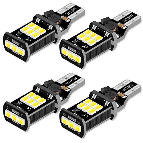 KATUR 4 X W16W Weiß 921 912 T15 902 W2.1x9.5d Glühlampe 12V 10W Canbus Fehlerfrei Licht Original Ersatz Halogen Birne für Rückfahrscheinwerfer