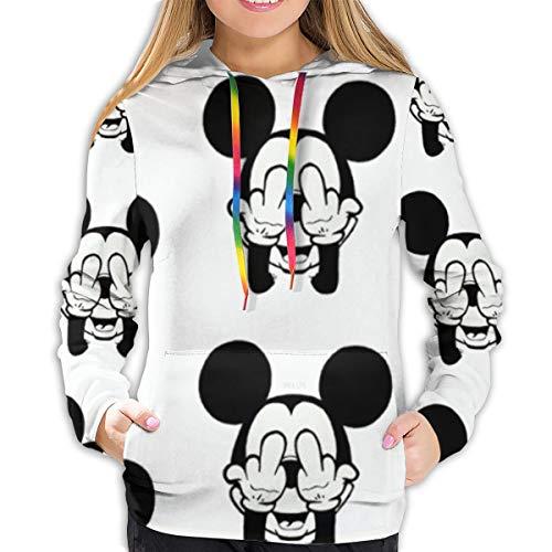 FASHIONDIY Sudadera con capucha y estampado de Minnie en 3D de Mickey Mouse