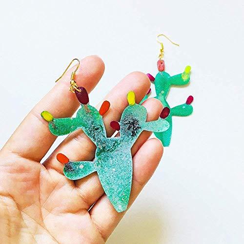 Kaktus-Ohrringe - Mexiko Liebhaber Zubehör - Ohrringe xxl - Mexiko trendige Schmuck - Moderne Ohrringe - Trendige Accessoires - Geschenke für sie