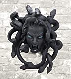 Ebros Greek Mythology Gorgon Goddess Medusa Head With Hair Of Snakes Wall Decor Plaque Statue 11.25'Tall Temptation Seduction Of The Demonic Gorgon Deity Medusa Gorgonic Sisters Figurine