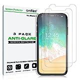 amFilm Screen Protector for iPhone 11 Pro/XS/X (5.8 Inch) (3 Pack) Anti-Glare Matte Flex Film PET Protector