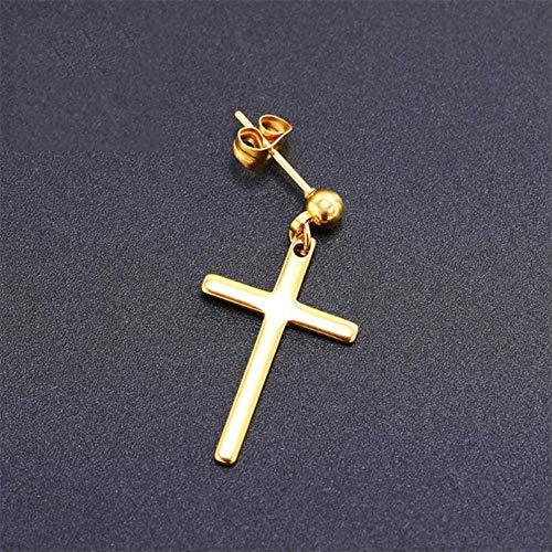 Oor manchetten voor vrouwen lange oorbellen Kruis hanger mannen vrouwelijke sieraden Unisex Cross Gift Party stijl charme opknoping Dangle Oorbellengoud