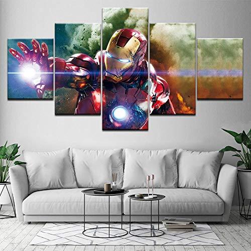 Film a 5 pannelli Marvel Avengers Infinity War Super Hero Poster Stampa su tela Pittura Decorazioni per la casa Immagine da parete per soggiorno(size 2)
