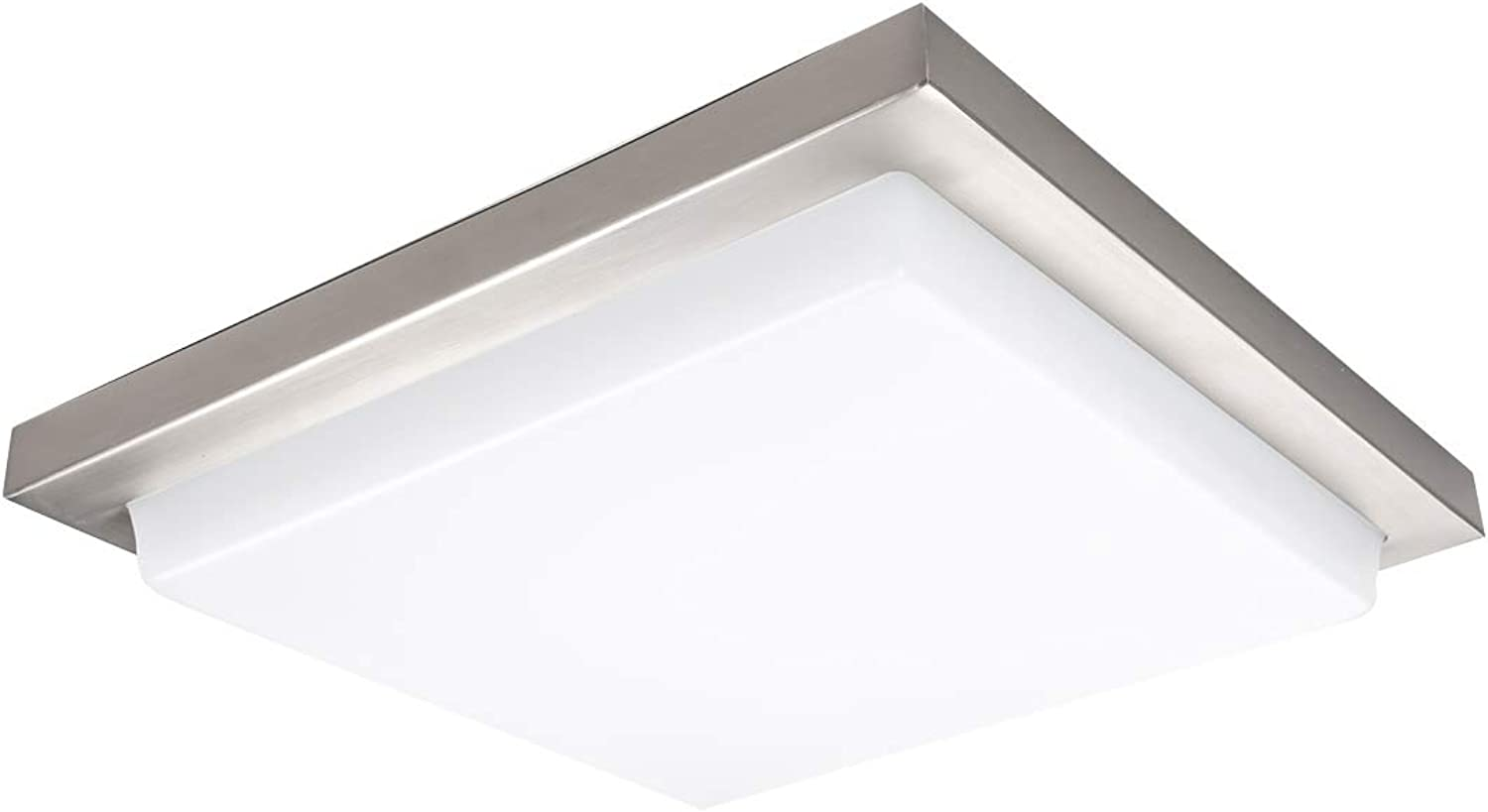 WAC Lighting FM-180118-35-BN Metro Energy Star Square LED Flush Mount, 18 Inches, Brushed Nickel