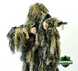 Arcturus Warrior Ghillie Suit | Hunting Clothes for Men | 5-Piece Camouflage Suits for Hunting, Military, Airsoft Snipers (Woodland, XL/XXL)