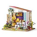 Home Decor Figur DIY Lily's Veranda Holz Miniatur Puppenhaus Modern Model Dekoration Puppenhaus...