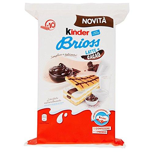 Kinder Ferrero Brioss Latte e Cacao - 4 confezioni da 10 pezzi da 29 g [40 pezzi, 1160 g]