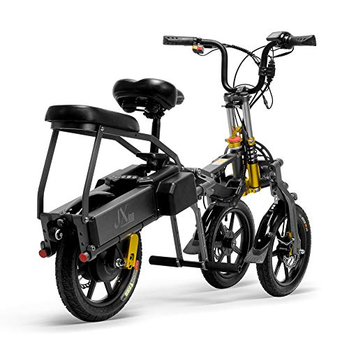 WM Erwachsene 14-Zoll-Lithiumbatterie Elektrofahrrad 3-Rad-Klapproller Elektroradfahrer 350w Starke Motorlast 100 kg