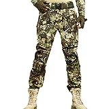 Pantalones de camuflaje de carga para hombre, pantalones de combate de combate militar del ejército, cazador, acampada, senderismo al aire libre, escalada, escalada, pantalones de pesca XX-Large