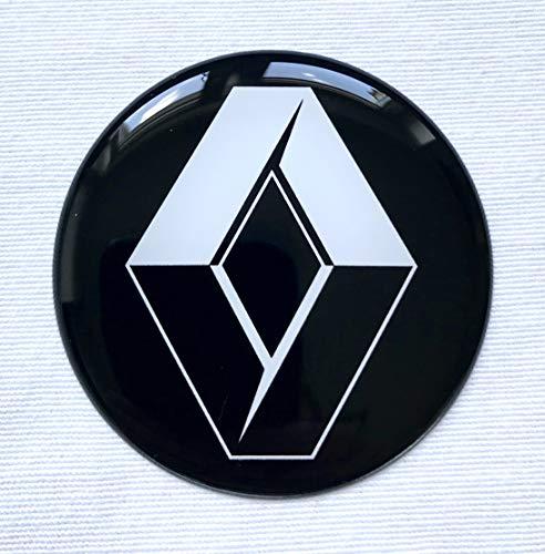 LogoEmbl Aufkleber 4 x 55mm für Radkappen RenaultLogo Embleme Mittelkappen 3D Imitation