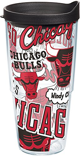 Tervis NBA Chicago Bulls Vaso aislado de doble pared, 24 onzas – Tritan, All Over