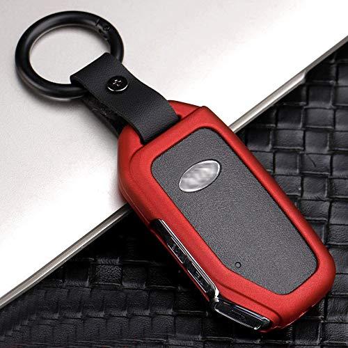 ontto Funda para llave de coche de 3/4 botones para Kia Sportage R Stinger Ceed Sorento Cerato Forte 2018 2019, aleación de zinc, color rojo B