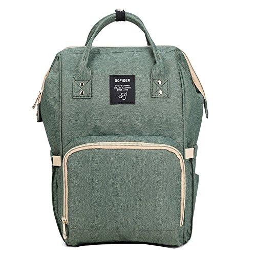 BigForest Mummy Sacs ¨¤ Dos ¨¤ Langer pour B¨¦b¨¦ Sac Travel Bag Multifunction Baby Diaper Nappy Changing Green sac ¨¤ main tote bag