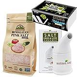 WBM LLC Himalayan Pink Salt & Salt Inhaler With Natural Tea Tree Facial Tissue, 1.7 Lb