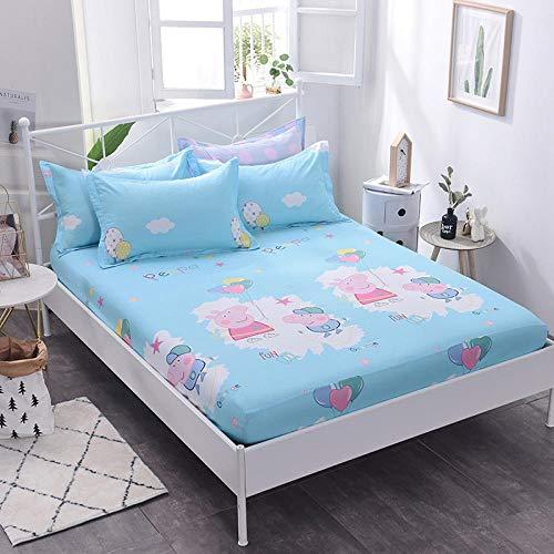 HPPSLT Protector de colchón/Cubre colchón Acolchado, Ajustable y antiácaros. Sábana de algodón Antideslizante de una Sola pieza-26_1.2 * 2m