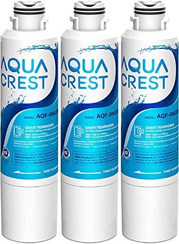 AQUACREST DA29-00020B Samsung Water Filter for Refrigerator, Replacement for DA29-00020A/B, HAF-CIN/EXP, DA29-00020B-1, RF25HMEDBSR, RF28HMEDBSR, RS25J500DSR&More Models, 3 Carbon Filters
