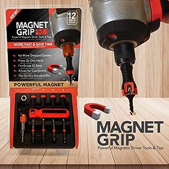 Magnet Grip Pro 12-Piece Magnetic Drill Bit Set