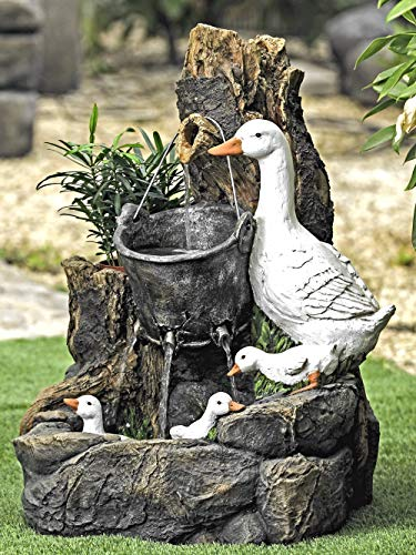 Aqua Moda Duck Family Water Feature with LED Lights