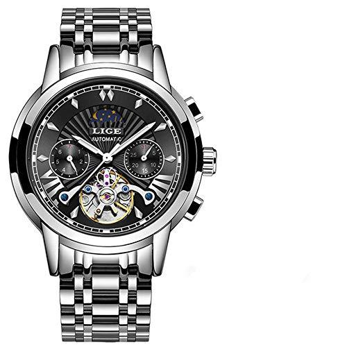 Tienda Oficial Relojes para Hombre Relojes de Marca Reloj mecánico automático de Negocios Reloj Dorado Reloj para Hombres Reloj mecánico de Hombres