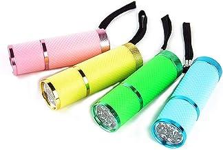 مصابيح كاشفة بأزرار ضغط مطلية بالمطاط LED من Blovess yueton مزودة بأشرطة، عبوة من 4 قطع