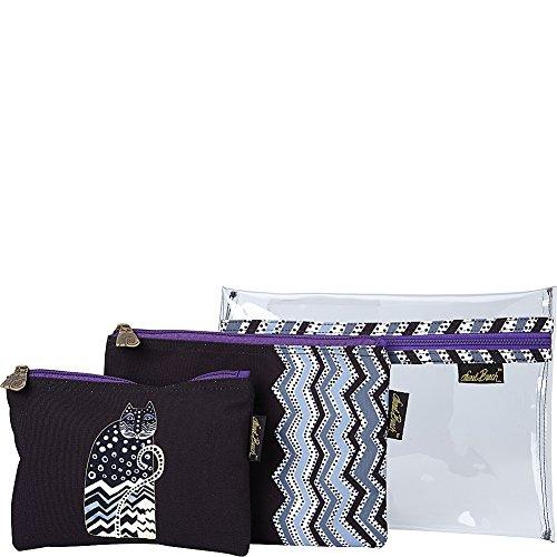 Laurel Burch Polka Dot Gatos Set of 3 Cosmetic Bags (Polka Dot Gatos)