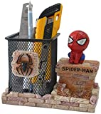 Iron Man Pen Holder, BREIS Creative Novelty Office Desk Decorations Man boy Girls Gadgets Stationery Storage Box Unique Gifts for Spiderman Fans (Red-B)