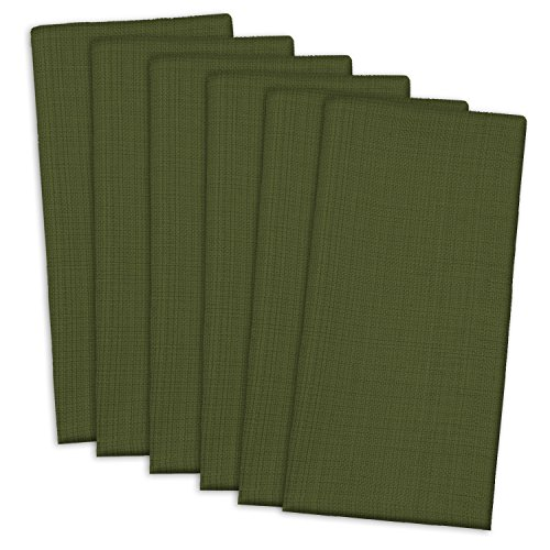 DII Oversized 20x20 Cotton Napkin, Pack of 6, Variegated Olive Green - Perfect for Fall, Thanksgiving, Dinner Parties, and Everyday Use