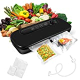 Vacuum Sealer Machine, Automatic Food Vacuum Sealer with Dry & Moist Food Modes, LED Screen Indicator, Easy to Clean, Food Saver Vacuum Sealer Machine with 20 Vacuum Bags for Food Storage