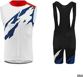 Uglyfrog US America Team Vest Men's Cycling Jersey Bike Sleeveless Shirt GQX05