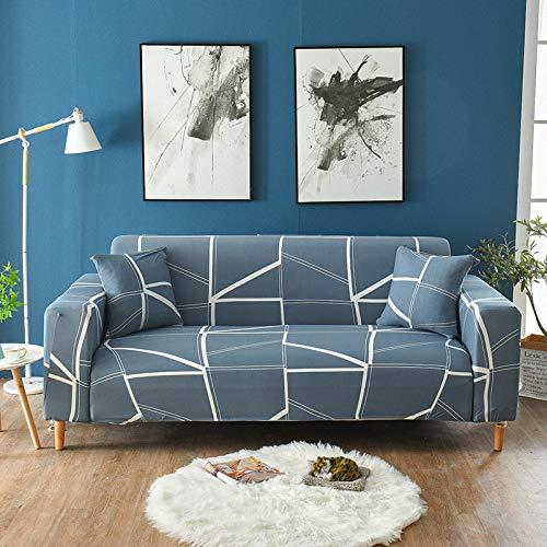 Fundas de sofá elásticas geométricas para Sala de Estar Funda de sofá Moderna para Silla de sofá de Diferentes Formas Funda de sofá Estilo L A12 2 plazas