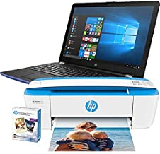 HP Notebook - 15-bw026cy Touchscreen, Blue, AMD A6-9220@2.5 GHz, 4GB DDR4 RAM, 1TB HHD, 3PP53UA Windows 10 and HP Deskjet 3755 Printer with Photo Paper (Renewed)