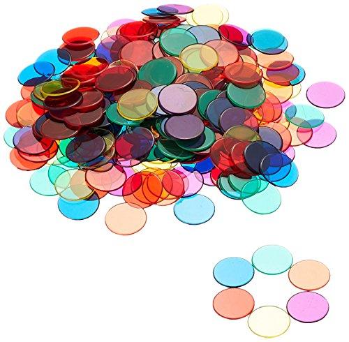 Learning- Fichas Transparentes, 6 Colores (LER0131)