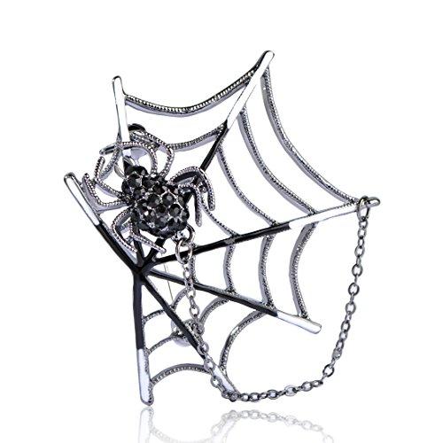 MECHOSEN アンティーク かっこいい クール メンズ 動物 蜘蛛 蜘蛛の網のブローチ ピン タクッピン クリップ お盆 父の日 七夕 彼氏 人気 ギフト 男性 アクセサリー ジュエリー 面白
