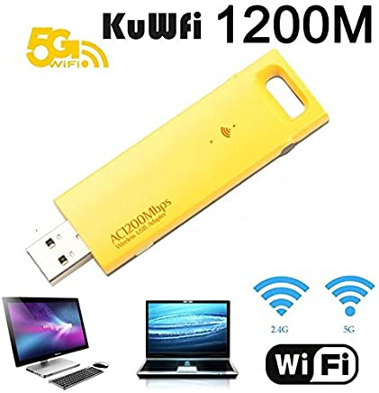 KuWFi WiFi Bluetooth 4.0 USB Wireless WiFi USB Adapter LAN Network LAN Card Portable Mini AP for Desktop Laptop