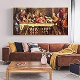 Pintura famosa La última cena Pintura famosa Carteles e impresiones en lienzo Imágenes artísticas de...