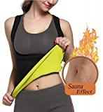 Glamours Womens Body Shaper Vest for Weight Loss Slimming Sweat Fat Burner Tank Top (Medium)