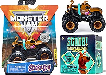 Dog Gone Monster Scooby-Doo Fun Truck Die-Cast 1 64 Bundled with Character Mini Figure Scoob Blind Box 2 Items Jam Pack