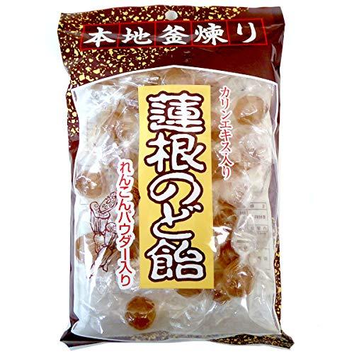 ダイドー製菓 蓮根のど飴 れんこんパウダー かりんエキス入り 200g×10袋