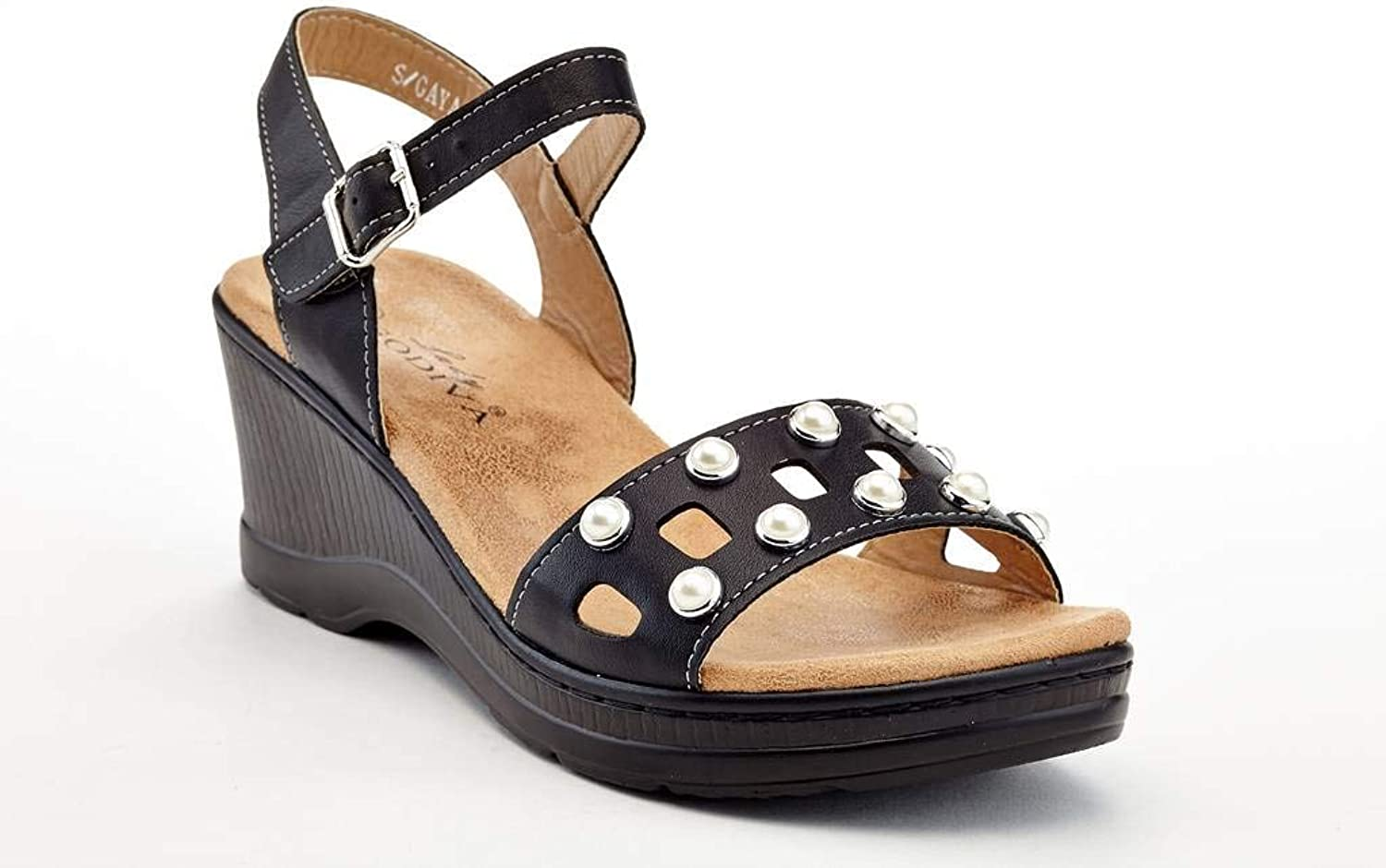 Lady Godiva Women's Comfort Wedge Sandals