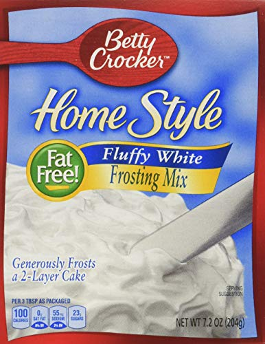 Betty Crocker Homestyle Fluffy White Frosting Mix, 7.2 Ounce (Pack of 6)