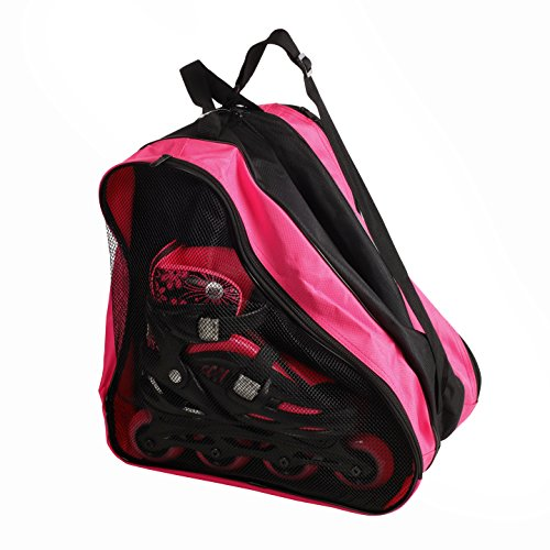 High Bounce Inline Skates Bag - for Boys and Girls Carrying Inline Skates, Ice Skates, Roller Skates (Pink)