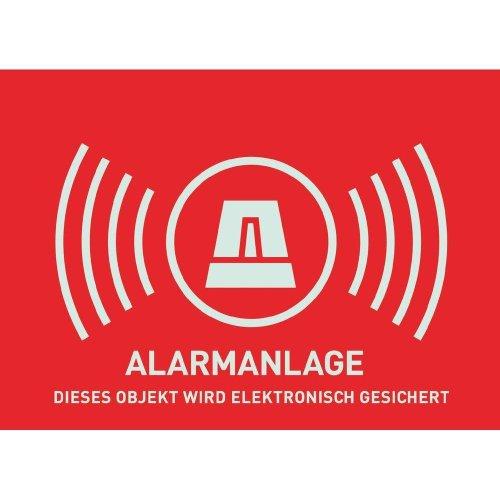 ABUS Warnaufkleber AU1323 Alarm ohne Logo 74 x 52,5 mm reflektierend