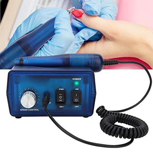 Elektrische nagelfrees, nagelvijlset set, instelbare draairat- en draairichting, nagelboor manicurefiler kit met 6 polijstkoppen EU