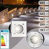 Spot Encastrable au Sol Carré, Set de 1 - Extérieur (10x10x12cm), LED approprié / GU10 / IP65-67,...